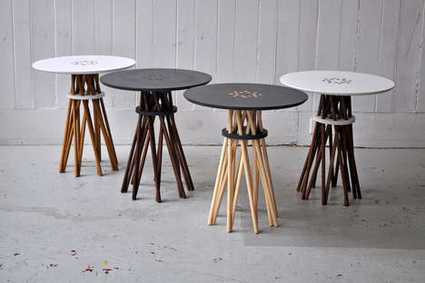 Multi-Legged Furniture - The Bundle Side Table by Ampersand is Simplistically Stacked