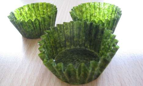 Seaweed Cupcake Wrappers - These Cupcake Wrappers Offer an Alternative Taste