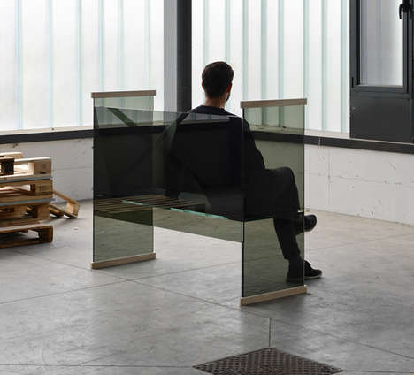 Transparent Glass Furniture Sets - This Glass Furniture Set Offers a Sleek Contemporary Design