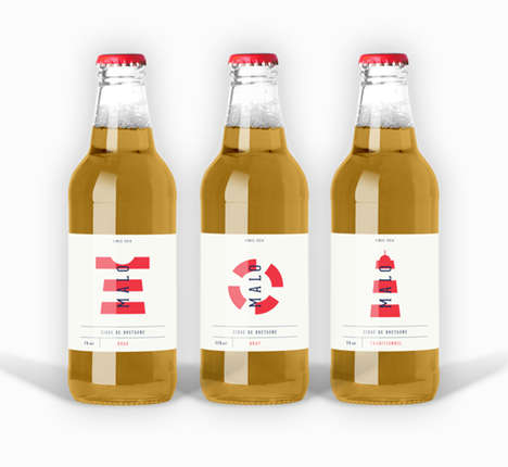 Beach-Inspired Branding - The Malo Cider Packaging by Adrienn Nagy Has a Nautical Feel