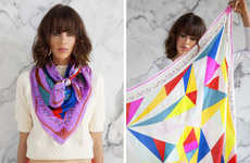 Graphic Scarf Collections - A Peace Treat Creates Colorful Patterns Perfect for Any Season