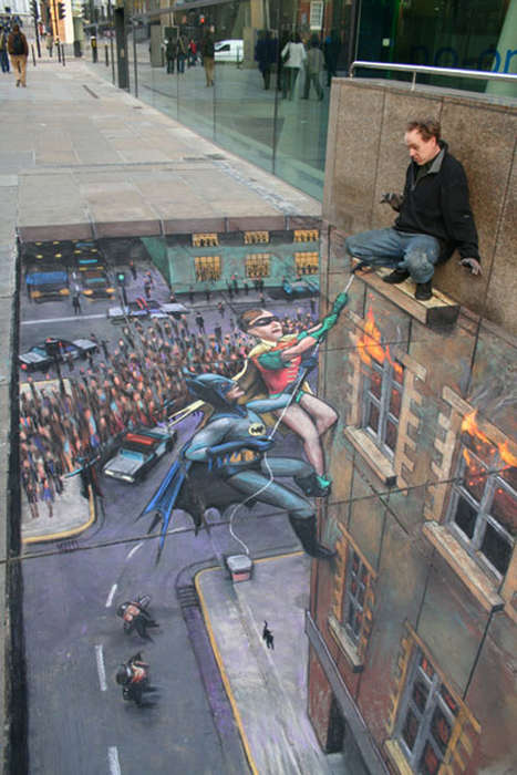 Illusionary Concrete Art - The Street Artist Julian Beever Creates Eye-Catching 3D Drawings