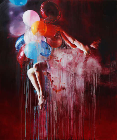 Gravity-Defying Paintings - The Chloe Early: Suspended Series Explores Themes of Weightlessness