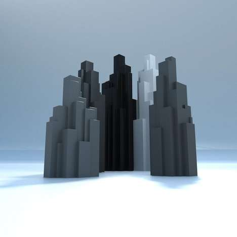 Cityscape Trophies - Sagmeister & Walsh Created Award Trophies Emulating NYC Buildings