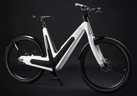 Moped Electric Bikes - The Leaos Electric Bike Strays from the Typical Bike Design
