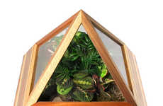 Lush Indoor Gardening Terrariums - The Pyramid Terrarium Will Turn Your Home into a Vegetated Oasis