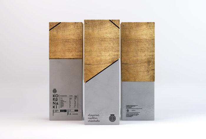 Minimalist Olive Oil Packaging