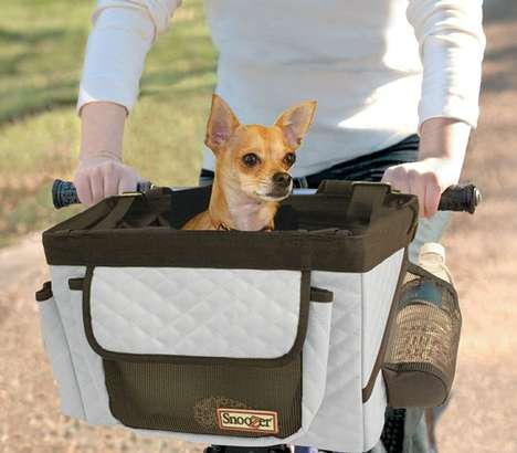 Cozy Bicycle Pet Carriers - Bring Your Pet on Your Excursions with the Snoozer Bike Basket