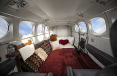 Romantic Mile High Airlines - The Love Cloud Airline Promotes Joining the Mile High Club