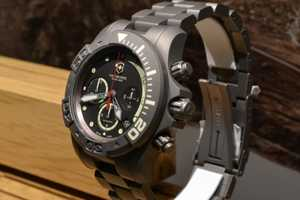 The Dive Master 500 Titanium Watch is Both Functional and Stylish