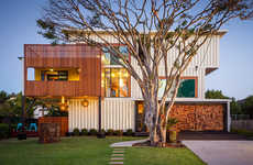 Graffitied Shipping Container Homes - The Architecture Firm ZeiglerBuild Designed This Abode