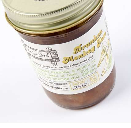 Alcoholic Banana Jam - Add the Drunken Monkey Jam to Your Morning Meals for a Buzz
