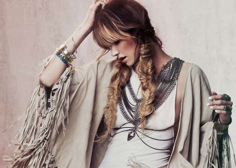 Festive Fringe Fashion Lookbooks - The Free People Lookbook