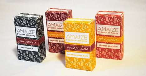 Upscale Popcorn Branding - AMAIZE Popcorn is Natural and Nutritious