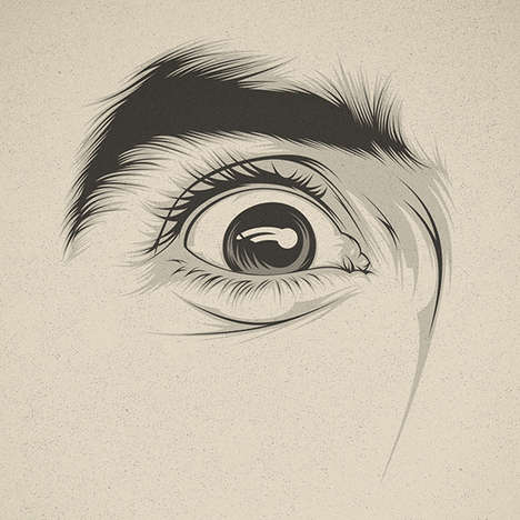 Emotive Eye Illustrations - These Illustrations Show How Eyes Alone Can Portray Emotions