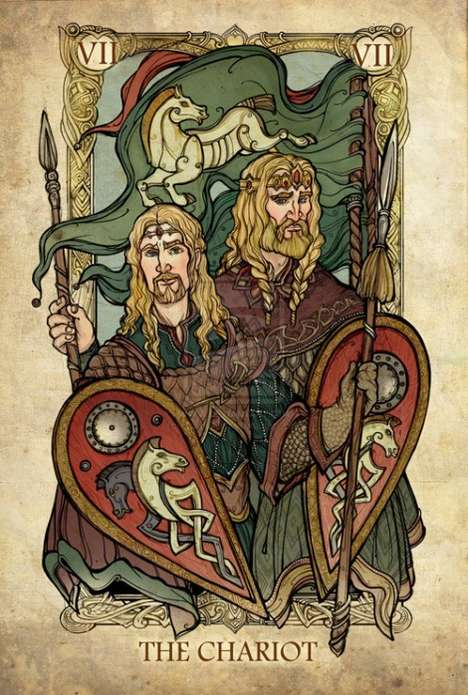 Fantasy Film Tarot Cards - These LOTR Tarot Cards Reimagine the Cards as the Story Characters