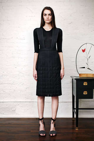 Crepe Suspender Dress Sartorials - Adam Lippes Pre-Fall 2014 Plays with Subtle Sophistication