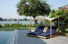 Butterfly-Inspired Canopy Loungers - The Deesawat Lounge Canopy Provides Shade While Relaxing