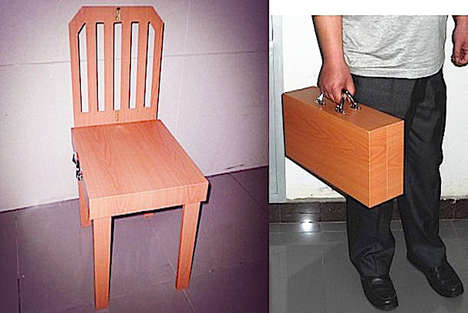 Briefcase-Inspired Seating - Chair to Suitcase by China Magic is Space-Saving and Easily Portable