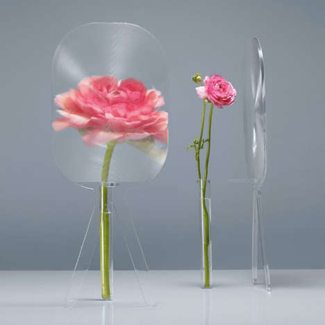 Magnifying Flower Holders - The Big Bloom Vase by Charlie Guda Accentuates the Pretty Petals