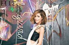 Artsy Celeb Editorials - The Elle Canada Cover Shoot Stars Australian Actress Rose Byrne