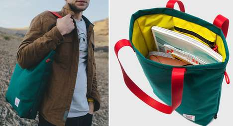 Stylish Outdoorsman Accessories - Topo Designs Creates Adventure Tote Bags for Fashionable Hiker