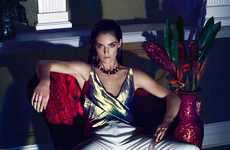 Seductively Regal Editorials - Hilary Rhoda Stars in the Marie Claire Mexico Issue