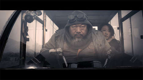 Secretive Dystopian Sci-Fi Films - The Sand Storm by Jason Wishnow Stars Chinese Artist Ai WeiWei