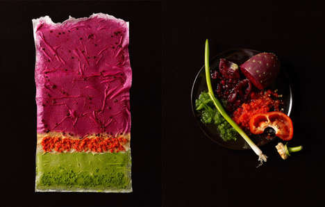 Food-Painted Canvases - The Series of Texture by Beth Galton Captures Beauty of Different Foods