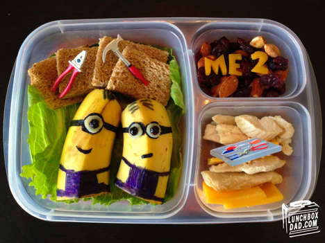 Cartoonish Packed Meals - Lunchbox Dad Creates Adorable Lunches for His Two Children