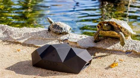 Turtle-Inspired Boomboxes - The BIG Turtle Shell Speaker is a Rugged, Outdoor-Friendly Boombox