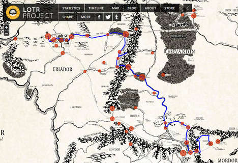 Interactive Fantasy Movie Maps - This Interactive Middle Earth Map Lets You Explore any Route