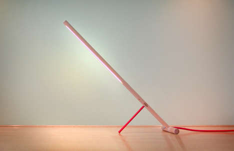 Pink Perpendicular Lamps - Peg Lamp Provides Functional Lighting For the Home