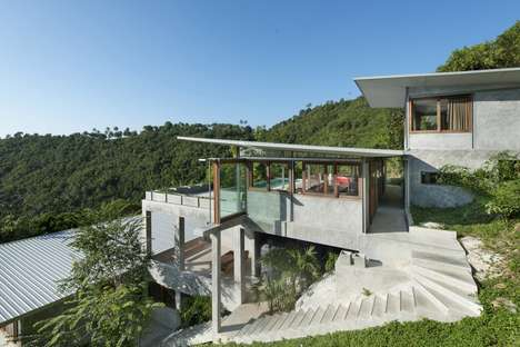 Isolated Island Enclaves - This Hill-Side Retreat is Stunning and Soothing