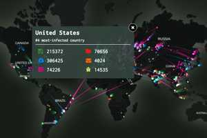 The Kaspersky Labs 3D Map Shows Global Cyber Attacks in Real Time