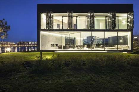 Transparent Diamond-Shaped Structures - Villa Kavel 1 by