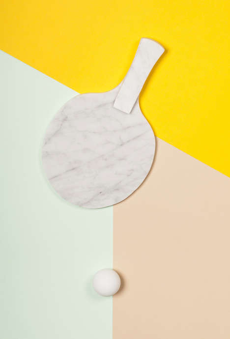 Re-Imagined Table Tennis Paddles - The Ping Pong Posters Depict Unorthodox Racquet Materials