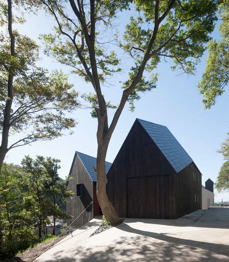 Two-Part Houses - Cnest by CUBO Design Architect is Designed to Look Like a Birdhouse