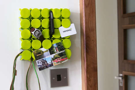 Modular Wall Mounts - The Geco Hub is the Ultimate Smart Solution for Storing Everyday Objects