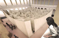 Massive Concave Mazes - Danish Firm BIG Will Build a Massive Maze in the National Building Museum
