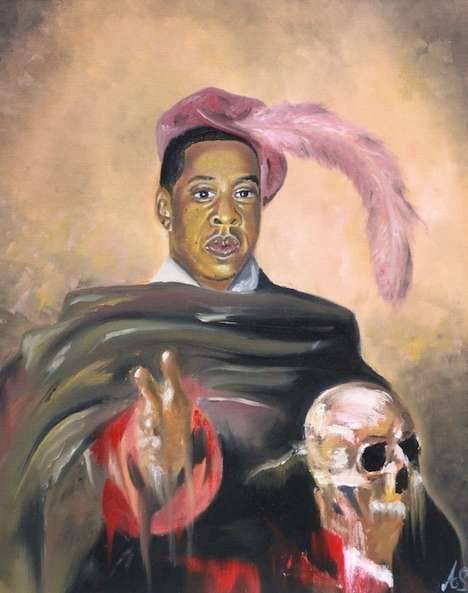 Classical Rapper Portraits - Amar Stewart Paints Rapper Portraits in a 17th Century Style
