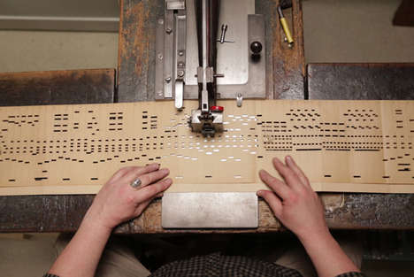 Music-Inspired Scarves - Glithero Created Textiles Out of Organ Punch Cards