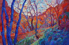Technicolored Topography Art - These Erin Hanson Lanscape Paintings Boast Dynamic Hues and Textures