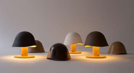Minimalist Mushroom-Inspired Lighting - The Mush Lamp by Claudia Garay is Sleek and Organic