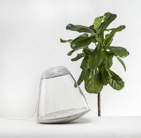 Rocket Ship-Inspired Lamps - The Apollo Light by Lucie Koldova is Made Out of Glass and Marble
