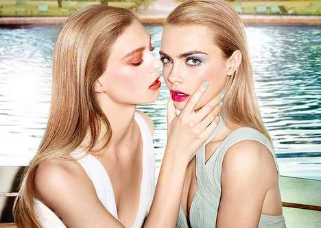 Prettily Sapphic Makeup Ads - The YSL Baby Doll Kiss and Blush Campaign Stars Cara Delevingne