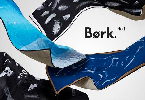 Gorgeous Graphic Design Blankets - The Bork No.1 Series is Inspired by Culture, Myths and Nature