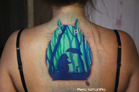 Body Painting-Like Tattoos - Tattoo Artist Nika Samarina Creates Vibrant and Elaborate Images