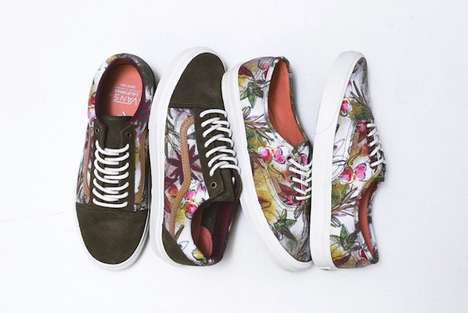 Botanically Camouflaged Sneakers - The Vans California Spring 2014 Collection Mixes Camo and Flowers