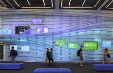 Interactive Scholarly Assignment Projectors - This Interactive Wall Saves Students Work Forever